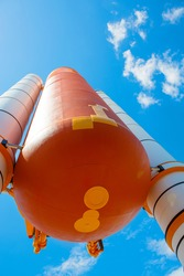 Kennedy Space Center near Cape Canaveral in Florida. Atlantis space shuttle.