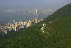 Kennedy Town, west of islnad area at hong kong 11 oct 2008