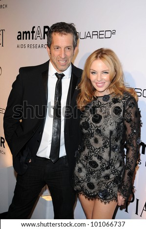 Kenneth Cole and Kylie Minogue at amfAR Inspiration Gala Celebrating Men's Style with Piaget and DSquared 2, Chateau Marmont, Los Angeles, CA. 10-27-10