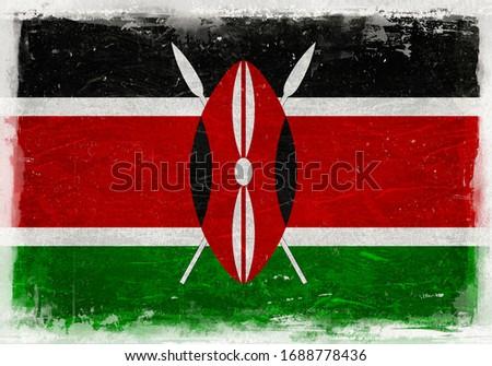 Kenya Flag, Kenya, Kenya Flag Background, Grunge Flag Background, Vintage Flag Background, Banner, Kenya Wallpaper,
