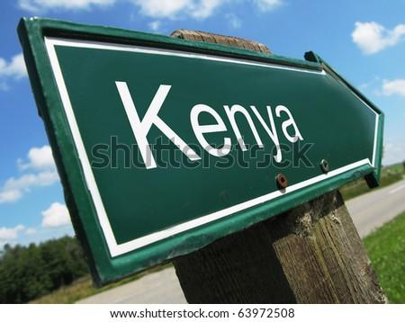 Kenya road sign
