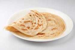 Kerala paratha / porotta / roti /Malabar  parotta / barotta is a layered flatbread made from maida flour ,South Indian, Kerala food,  Tamil Nadu  india,Sri Lankan.