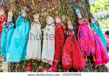 Kerala state celebrates Onam festival and natives use these handmade dolls for religious celebrations and for decorative purpose. #1503959006