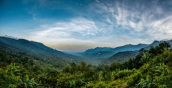 Kerala Travel and Tourism concept image Wayanad amazing nature beauty of God's own country, Beautiful mountain view and best place to visit in Kerala
