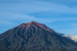 Kerinci mountain is the highest volcano in Indonesia.  the peak of Kerinci mountain is at an altitude of 3805 masl.