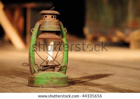 kerosene lamp on the stage