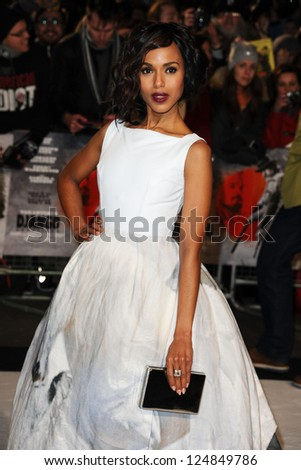 "Kerry Washington arriving for the ""Django Unchained"" premiere, Empire Leicester Square, London. 10/01/2013 Picture by: Steve Vas"