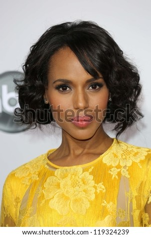 Kerry Washington at the 40th American Music Awards Arrivals, Nokia Theatre, Los Angeles, CA 11-18-12