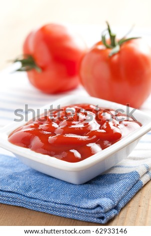 ketchup and tomatoes