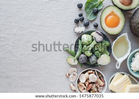Ketogenic diet ,low carb, high fat, healthy food, world food day #1475877035