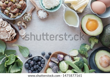 Ketogenic diet ,low carb, high fat, healthy food, world food day #1475877161