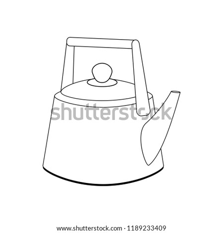 Kettle  illustration on the white background.  illustration
