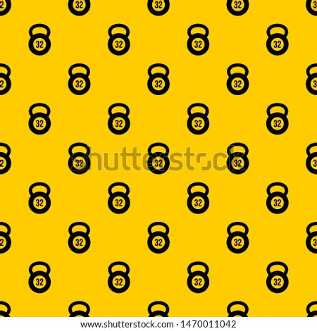 Kettlebell 32 kg pattern seamless repeat geometric yellow for any design