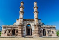 Kevda Masjid mosque in Champaner historical city, Gujarat state, India