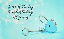 key and lock.