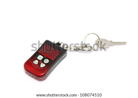 key and security remote for home door