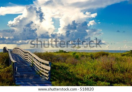 Key Biscayne Bridge - stock photo