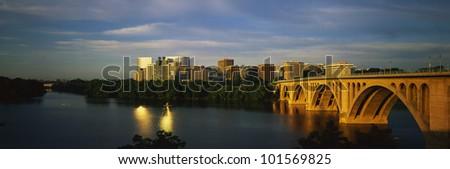 Key Bridge & Skyline View, Rosslyn, Virginia/Washington, D.C.