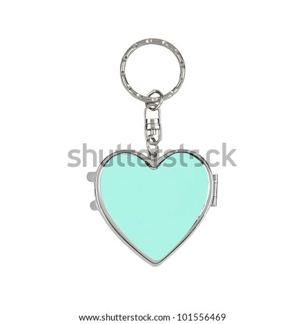 key chain heart  isolated on a white background
