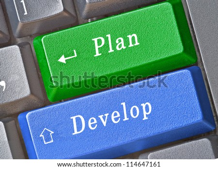 Key for plan and development
