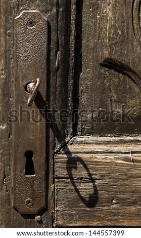 key in a ancient doors