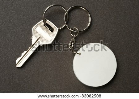 Key isolated on the dark background