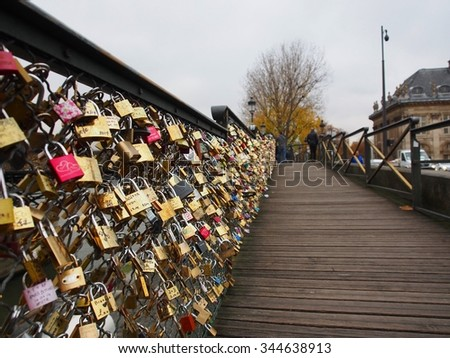 Key of love bridge