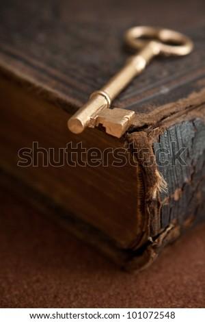 Key on vintage book