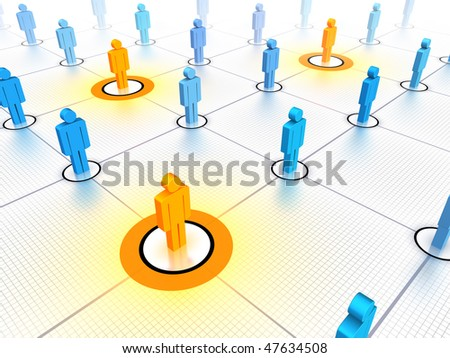 Key people in a networked crowd.