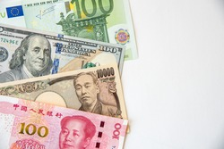 Key reserve currencies - US Dollar, Euro, Japanese Yen and Chinese Yuan