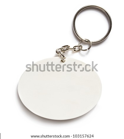 Key ring on white background
