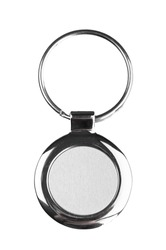 Key ring with space for text on white background