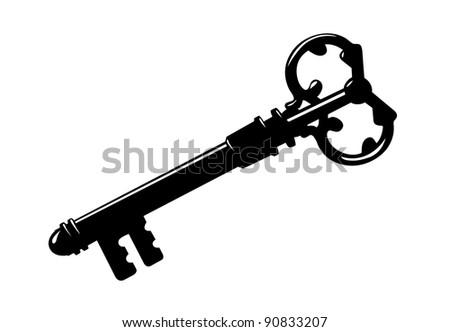 key silhouette on white background