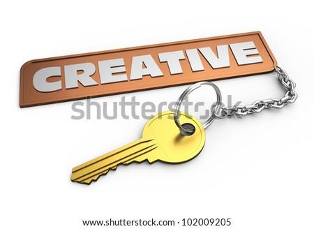 Key to creative