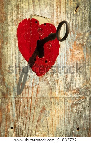 Key to heart symbol of love