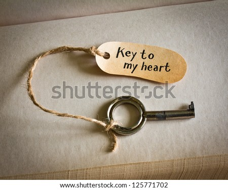 Key to my heart. Concept for love, relationship, friendship and loneliness