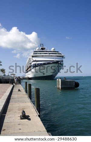 KEY WEST, FL - MARCH 22 : Celebrity Cruise Line ships dock at the harbor March 22, 2009 in Key West, Florida.