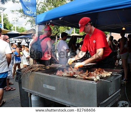 KEY WEST, FLORIDA - AUGUST 13:  Key West Lobster Festival, August 13, 2011, in Key West, Fl.  This is an annual event.