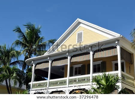 Key West Style Architecture Stock Photo 37296478