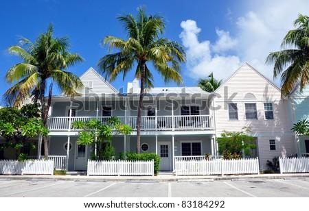 Key West Style Florida Beach houses - stock photo