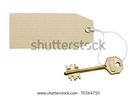 Key with a label