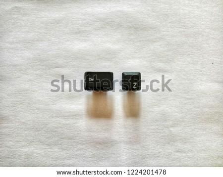 keyboard button shortcut keys ctrl z for undo in paper background #1224201478