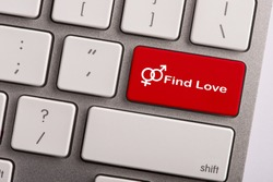 keyboard button with word find love