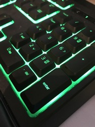 Keyboard closed up on number section. Calculating section on keyboard