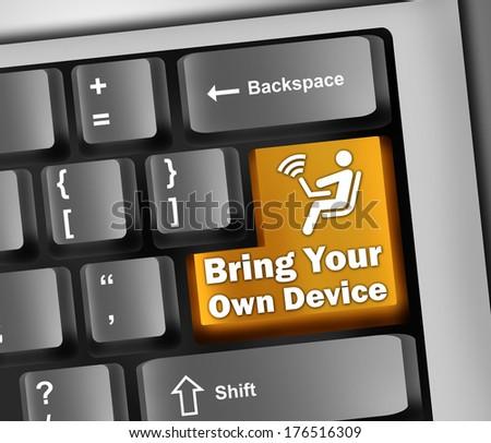Keyboard Illustration with BYOD wording