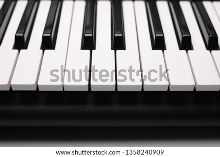 keyboard instrument, composition on a white background. #1358240909