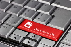 Keyboard key - document file