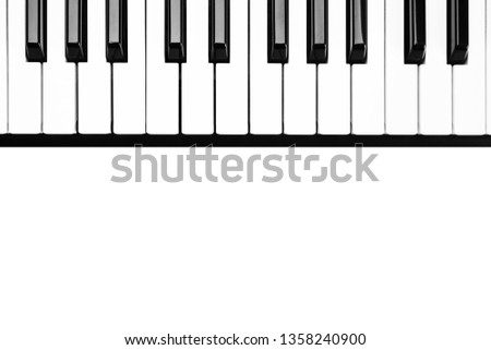 Keyboard keyboard instrument, composition on a white background. #1358240900