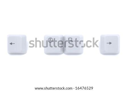 Keyboard keys: arrows left and right
