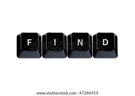 keyboard keys find